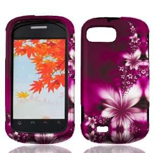ZTE Fury N850 N 850 Rose Red Floral Flowers Design Snap On