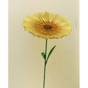 Glass Sunflower Garden Stake Bird Feeder Patio, Lawn