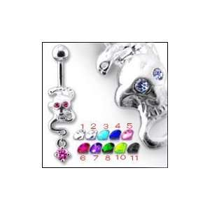 Jeweled Dangling Belly Ring Body Jewelry Jewelry