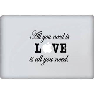 You Need Is Love Decal   Vinyl Macbook / Laptop Decal Sticker Graphic