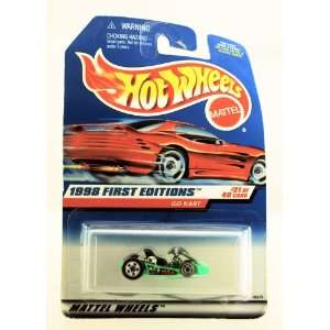 Hot Wheels   1998 First Editions   Go Kart   Neon Green   Rare Red