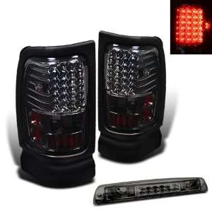 94 01 Dodge Ram LED Smoked Tail Lights + 3rd LED Brake Automotive
