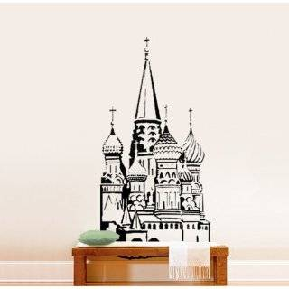 Vinyl Wall Art Decal Sticker India Taj Mahal Silhouette