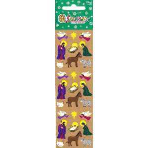 Nativity Scene Mini Scrapbook Stickers Arts, Crafts