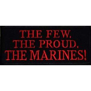 FEW PROUD MARINES USMC Military Biker Vest Patch