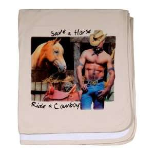 Baby Blanket Petal Pink Country Western Cowgirl Save A Horse Ride A