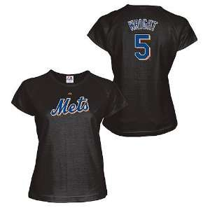 David Wright New York Mets WOMENS Black Name and Number T Shirt by