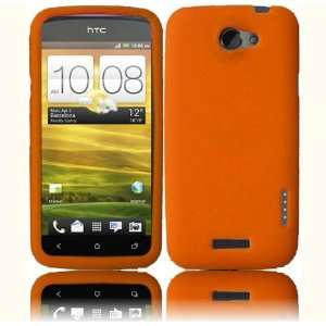 Orange Soft Silicone Skin Gel Cover Case for HTC One S (T