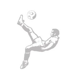 Peel and Stick Flying Soccer Ball Decal Sticker Removable