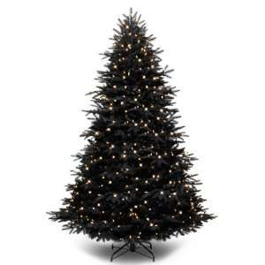 7.5 Black Ashley Pre Lit Artificial Christmas Tree Clear