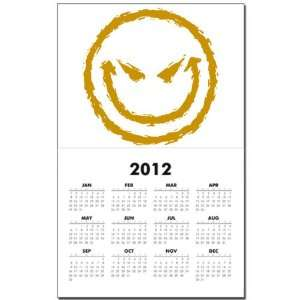Calendar Print w Current Year Smiley Face Smirk