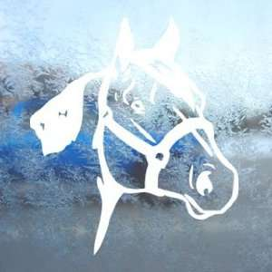 Quarter Horse White Decal Car Laptop Window Vinyl White