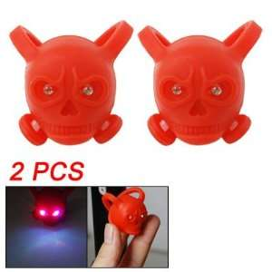 Red Silicone Skull Colorful Flash LED Lights Lamps