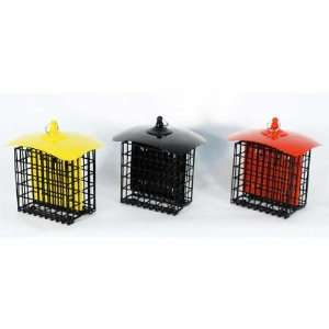 Double Suet Holder Metal Bird Feeder   2 Suet Capacity
