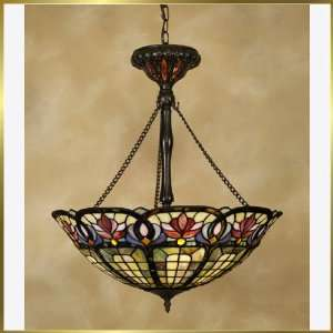 Tiffany Chandelier, QZTF1438VB, 3 lights, Antique Bronze, 22 wide X