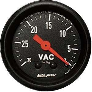 Auto Meter 2610 Z Series 2 1/16 Mechanical Vacuum Gauge Automotive