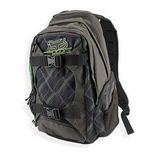 Fox Racing Borg Backpack     /Black/Green Automotive