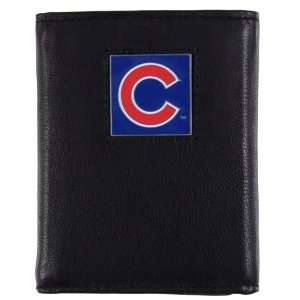 Chicago Cubs   MLB Tri fold Leather & Canvas Wallet