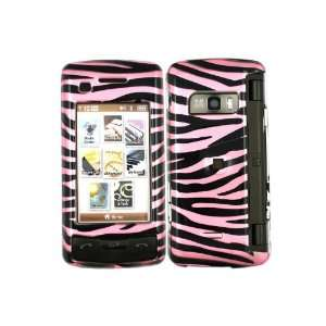 Zebra Baby Pink Crystal 2D Hard Skin Case Faceplate Cover