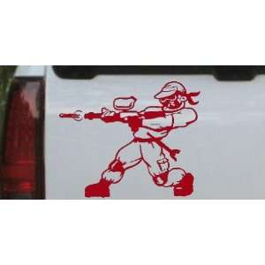 Red 10in X 8.3in    Paintball Man Sports Car Window Wall Laptop Decal