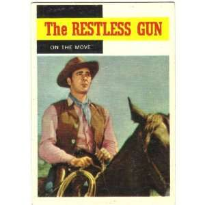 1958 Topps TV Westerns Trading Card #53 The Restless Gun On the Move