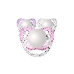 3 Orthodontic Glitter Girls Personalized Pacifiers Baby