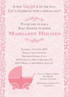 Pink Baby Carriage Shower