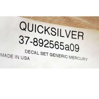MERCURY QUICKSILVER 10 PC. BOAT DECAL SET