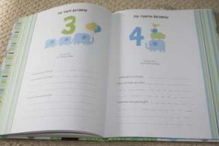 Baby BOY Memory Book Just One You Carters green blue brown dots