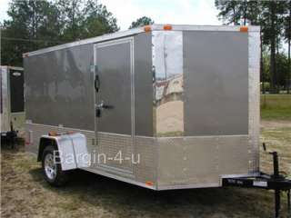 new 2012 6x12 motorcycle enclosed cargo trailer v nose ramp search