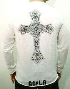 NEW A&G ROCK&ROLL COUTURE by AMAL GUESSOUS MENS WHITE COTTON CREW NECK
