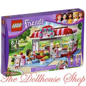 NEW 2012 Girls Lego Friends City Park Cafe Set 3061 NIB 222 Pc Pink