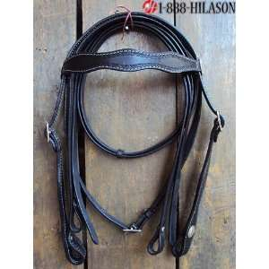 Leather Tack Horse Bridle Headstall Reins 022