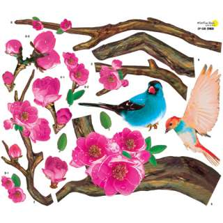 Flower Tree Birds Wall Decals Vinyl Stickers HOme Decor