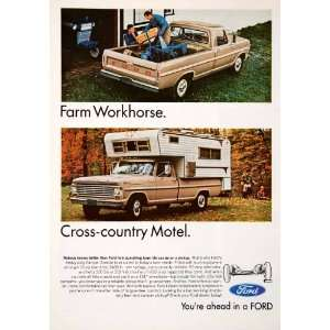 1967 Ad Ford Pickup Truck Camper Special Twin I Beam